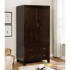 Clothing Armoire, Clothes Cabinet, Wood Clothing, Door Storage, Closet Storage, Tall Cabinet Storage, Cabinet Space, Stand Alone Closet, Wardrobe Cabinets