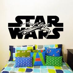 Wall stickers vinyle autocollant Decal Art Home Decor murale Star Wars Logo Xwing X-Wing Fighter enfants Nursery Room chambre bureau fenêtre AN237 par TrendyWallDecals sur Etsy https://www.etsy.com/fr/listing/207965057/wall-stickers-vinyle-autocollant-decal