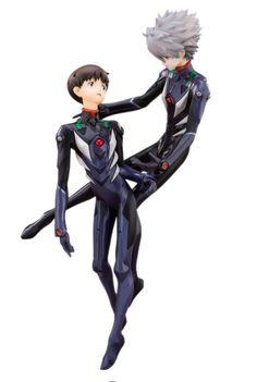 Evangelion 3.0 You Can (Not) Redo PVC Statuen Twin Pack Kaworu Nagisa & Shinji Ikari 30 cm