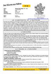 """Les fiches """"Des Oeuvres aux maîtres"""" — ASH 62 Discipline, Les Oeuvres, Visual Arts, Note Cards"""