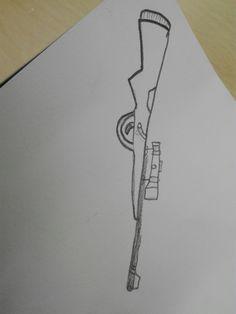 Dit is mijn sniper wat ik moeilijk vond was de details in bijv. de inzoom ding
