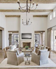Image result for elegant neutral farmhouse interiors