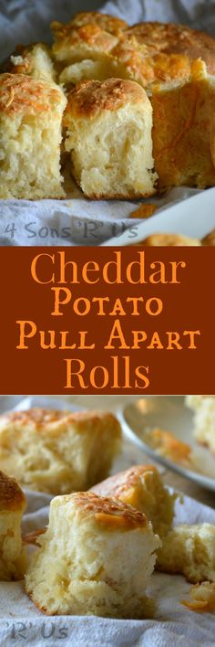Never buy store-bought dinner rolls again. I kid you not, these Cheddar Potato Pull Apart Rolls are quick & easy to whip up, with simple instructions and rise times, for fool proof from scratch bread to serve with meaty family meals. You're guaranteed to see them on our table for Thanksgiving, Christmas, and even Easter.