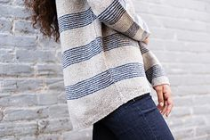 """""""Cohle,"""" by Julie Hoover, knit with two strands of Shibui Pebble held together throughout."""