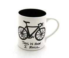Bike Mug Bicycle This is How I Roll earthenware by LennyMud