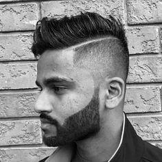 Hard Part Short Taper Fade Haircut For Men Hard Part Haircut, Short Fade Haircut, Taper Fade Haircut, Long Undercut Men, Undercut Fade, Short Hair Lengths, Long Hair Cuts, Short Hair Styles, Hard Part Fade