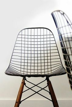 Eames wire / dowel leg chairs