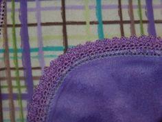 crochet edges for baby burp cloths or blankets. 3/15