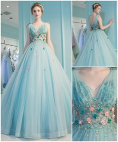 Attractive V-Neck Pleats Beading Ball Gown Court Train Quinceanera Dress Pretty Prom Dresses, Prom Dresses Long With Sleeves, Cute Dresses, Homecoming Dresses, Quince Dresses, Ball Dresses, Evening Dresses, Princess Ball Gowns, Fairytale Dress