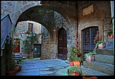 Viterbo.....via dell'incontro......(HDR) by Coppa Francesco, via Flickr