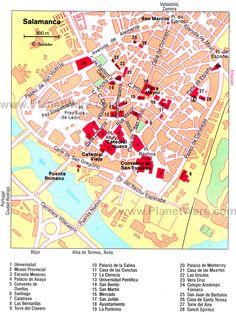 Santiago de Compostela Tourist Map travel map Pinterest