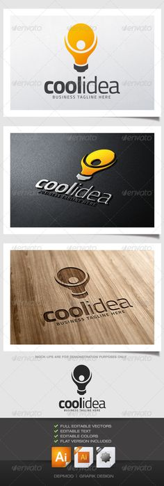 Cool Idea Logo — Vector EPS #print #bright • Available here → https://graphicriver.net/item/cool-idea-logo/5209587?ref=pxcr