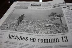 En El Colombiano del 23 de octubre del 2002, las promesas de la alcaldía de turno para mantener el control y aumentar la inversión en la Comuna 13.