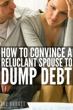 How to Convince a Spouse to Dump Debt? Toni retells the story of how she worked to convince her reluctant spouse to dump debt. Make living the debt-free life a reality for you and your family!