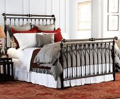 Brass Sleigh Bed- Brass Sleigh Beds direct from Charles P. Rogers Beds, America's best source for brass sleigh beds, daybeds and trundle beds since We ship anywhere. Bed Frame, Bedroom Red, Cal King Headboard, Sleigh Bed Frame, Country Bedding, Bed, Furniture, California King Bedding, Brass Bed