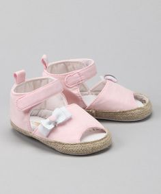 Take a look at this Rugged Bear Light Pink Espadrille by Rugged Bear on #zulily today!