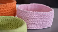 DIY: Video tutorials for crocheting a basket. Crochet Home, Knit Crochet, Crochet Videos, Handicraft, Baby Shoes, Projects To Try, Slippers, Textiles, Create
