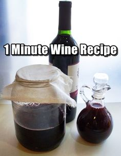 1 Minute Wine Recipe – This step by step article details the process with pictures and easy to understand instructions. Included are ways to make small batches and reusing the plastic jug of the juice you decided to buy for the flavor you want. Grape Wine Recipes Homemade, Homemade Liquor, Easy Blueberry Wine Recipe, Easy Grape Wine Recipe, Making Wine At Home, Make Your Own Wine, How To Make Wine, Wine And Liquor, Wine And Beer
