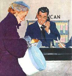 Airline clerk....Al Parker