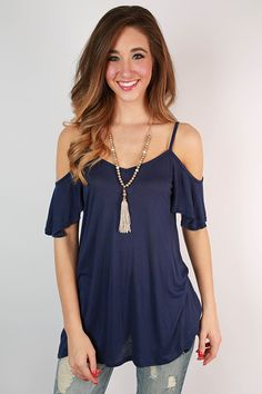 The Cold Shoulder Top in Navy #contest #shopimpressions @shopimpressions