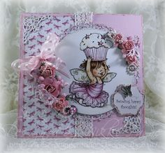 "I have used a Mo Manning topper and other products from the Hobby House to create this 6""x6"" card."