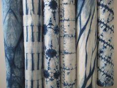 Indigo Shibori Fabrics by CapeCodShibori on Etsy, $52.00