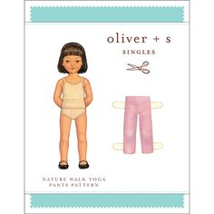 Oliver S Nature Walk Yoga Pants 6M to 4T Sewing Pattern - Let's take a stroll outside. These boy's or girl's easy-to-sew, casual, pull-on knit pants have a hidden elastic waist and are designed for knits with at least 25% stretch. They are extremely versatile and are sure to become a favorite. :: $8.95