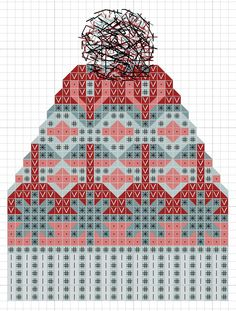 hancock's house of happy: Free Cross Stitch Chart: Fair Isle Knit Toque