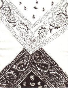 Bandana Design Drawing By Blackroseryoko