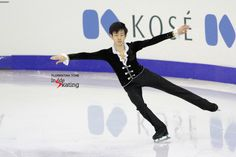 Three months ago, at the Junior Grand Prix Final, Japan's Sota Yamamoto won the silver medal behind teammate Shoma Uno (photo taken in Barcelona, in December, during Sota's short program to Rachmaninov)