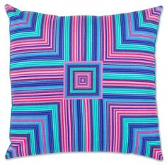 """Linear Pillow"" pattern designed by Robert Kaufman Fabrcis. Features Kona Cotton and Vivid. FREE pattern."