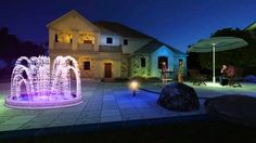 Fountscape Oasis on Your Backyard Decorative Fountains, Light Effect, Rooftop, Oasis, Terrace, Deck, Backyard, Mansions, Watch