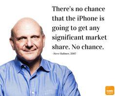 Streitbar war Steve Ballmer immer #iphone