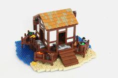 Lego Bridge, Lego Beach, Lego Dc Comics, Lego Age, Age Of Empires, Lego Models, Lego Building, Lego Creations, Legos
