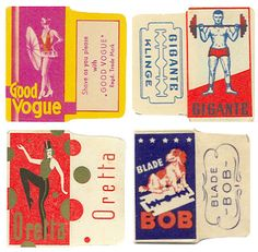 Vintage Razor Packaging