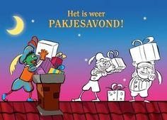 Wenskaart : Het is weer pakjesavond (met Groene Piet), Hallmark