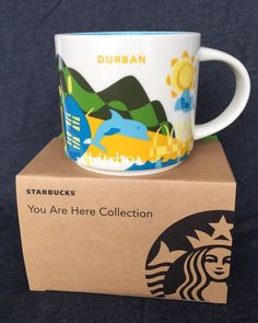Starbucks Durban Mug YAH Dolphin South Africa Zulu Ship Rugby You Are Here Cup #Starbucks