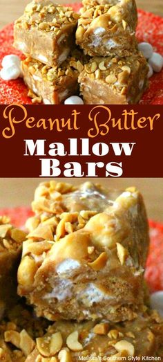 Whether you're hosting a birthday party, packing for a picnic or making sweets for the holidays, Peanut Butter Mallow Bars will make a fabulous addition. Amazing Cookie Recipes, Best Dessert Recipes, Candy Recipes, Easy Desserts, Baking Recipes, Delicious Desserts, Yummy Food, Bar Recipes, Retro Recipes