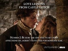 Outlander: Sam Heughan and Nell Hudson as Jamie Fraser and Laoghaire MacKenzie.