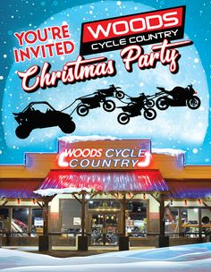Save the Date -  Thursday, December 12th Woods Cycle Country's 14th Annual Customer Christmas Party  Door prizes, live music, food, and this year's Grand Prize, a 2020 Kawasaki Brute Force 300 ATV!  We are also accepting donations for the San Antonio Toys for Tots program. Please drop off any new and unwrapped toys between now and the party. Your generosity is greatly appreciated!  #WoodsCycleCountry #Kawasaki #NewBraunfels