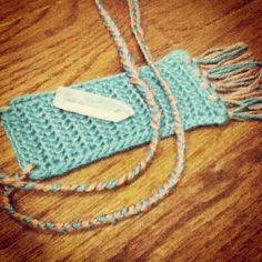 a fringed stash pouch necklace