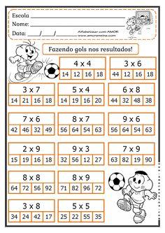 Mental Maths Worksheets, First Grade Math Worksheets, Math Activities, Math For Kids, Fun Math, Math Tables, Math Charts, Math School, Math Multiplication