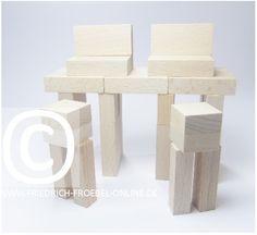 Lebensform mit den Holzbausteinen der Spielgabe 6 nach Froebel -> Computerarbeitsplätze
