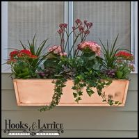Improve the appearance of your exterior with copper window boxes. This real copper window box / standalone planter is handmade and hand polished. The perfect garden containers, these copper window boxes are great as a standalone planter or they can be dro Rectangular Planters, Large Planters, Window Box Flowers, Flower Boxes, Window Planter Boxes, Planter Pots, Shed Interior, Aquaponics Fish, Succulent Wall