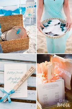 Consiente a los invitados con abanicos - Ideas para una boda en la playa