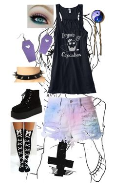 """""""Pastel Goth"""" by colorful-beat ❤ liked on Polyvore featuring Cotton Candy"""