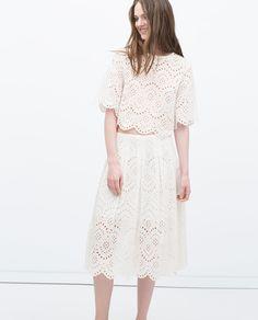 LONG LASER - CUT SKIRT - View all - Skirts - WOMAN | ZARA United States