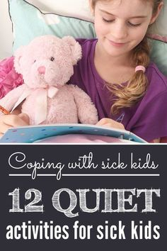 Pin this for your next sick day! 12 simple, low prep activities that work when you're stuck home because the kids (or mum) are sick. Perfect ideas for school aged kids.