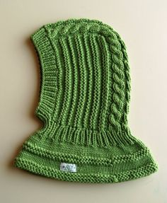 Waldorf inspired winter and snow hat. Hand knitted hoodie / balaclava hat for baby, toddler, child. Made from bright green merino wool. Soft and very functional - perfect to keep the little ones warm and cozy during cold days. OPTIONAL: cotton lining Baby Knitting Patterns, Baby Hats Knitting, Knitting For Kids, Hand Knitting, Crochet Patterns, Pull Bebe, Knitted Hats Kids, Balaclava, Baby Sweaters