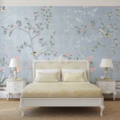 The Dirty Facts About Bedroom Decor Mural Wallpaper House Design House Interior Forest Wallpaper You will have the ability to unwind and feel good in your new room full of wonderful furniture. For example, if the room is large enough… Continue Reading → Blue Bedroom Decor, Cozy Bedroom, Bedroom Ideas, Bedroom Designs, Modern Bedroom, Decor Room, Bedroom Inspiration, Girls Bedroom, Removable Wall Murals